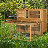 6ft Chartwell Double Rabbit Hutch and Run Combo