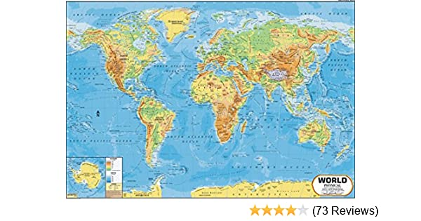 Buy world map physical 100 x 70 cm book online at low prices in buy world map physical 100 x 70 cm book online at low prices in india world map physical 100 x 70 cm reviews ratings amazon gumiabroncs Images