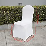 begorey 50PCS/20PCS/100PCS Universell Stretch Stuhlüberzug Stretchstoffe Stuhl Husse für Hochzeit Party weiß (Type1: 20PCS)