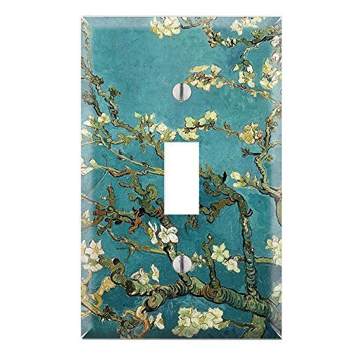 Decorative Single Toggle Light Switch Wall Plate Cover - Almond Branches in Bloom by - Almond Plate Wall Light