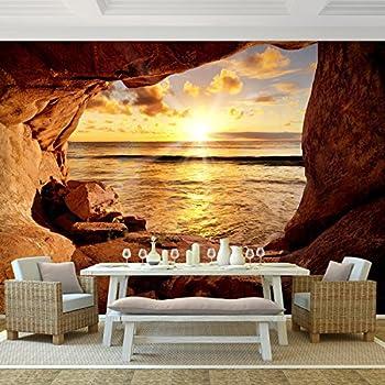 fototapete strand 352 x 250 cm vliestapete wandtapete vlies phototapete wand. Black Bedroom Furniture Sets. Home Design Ideas