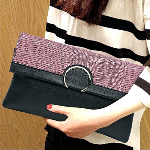 TaoMi Homw- Clutch Female Großraum Umschläge Einfache Handtasche Messenger Bag / Mit Schultergurt Taro powder