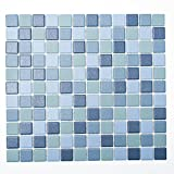 Fliesen Mosaik Mosaikfliese Keramik Quadrat mix blau 6mm Neu R10B #250