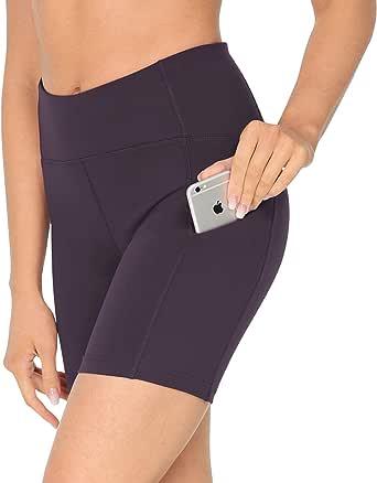 QUEENIEKE Entrejambe 4.5 Taille Moyen Contr/ôle du Ventre Short de Course de Yoga pour Femme
