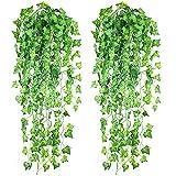 beautop 1Stück Künstliche Grün Blatt Garland Pflanzen Ivy Vine Blattwerk Hochzeit Home Dekoration