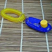 Animal Pet Training Clicker obediencia Ayuda + correa de muñeca luz peso Universal Mini Mini Conveniente