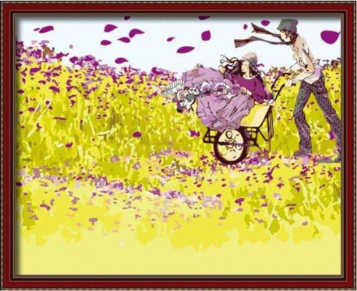 Bricolage numérique toile peinture à l'huile de décoration par les kits de nombres Beloved 16 * 20 pouces.