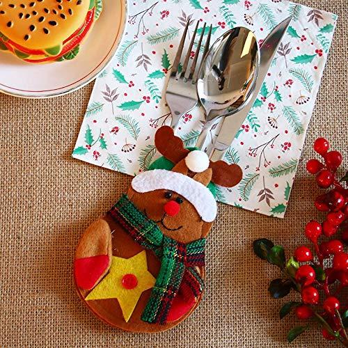 SPFAZJ Weihnachten Tisch Dekoration Weihnachten Tisch Dekoration Geschirr Weihnachten Thema kleine Kleidung kleine Hose Besteckset
