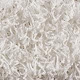 Teppichboden Auslegware | Hochflor Langflor | 400 und 500 cm Breite | weiß | Meterware, verschiedene Größen | Größe: 6 x 4 m