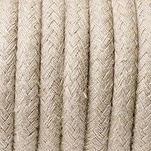Entrelazado Zig Zag lámpara de algodón–Color Beige Cable de cable de tela negro blanco zig zag dreiadrig, plástico Cable, lámpara Cable 3conductores, redondo, 3x 075mm² Cable, también Cable Metro (corriente–Eléctrico–Lámpara Cable–Leuchten Cable de conexión–Conexión sin interruptor y enchufe), cable para lámparas y Leuchten Cable de cable, textil, plástico, Corriente Eléctrica, de diferentes colores Cable, Cable, alargador de cable, textil Cables de corriente, cable de corriente, algodón Cable, Repuestos lámpara Cable