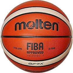 Molten Ballon de Basket-Ball Orange/Ivoire - 7 bGF7X dBB -
