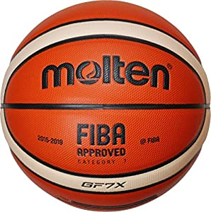 Molten Basket Ball - Orange/Ivory, 7, BGF7X-X