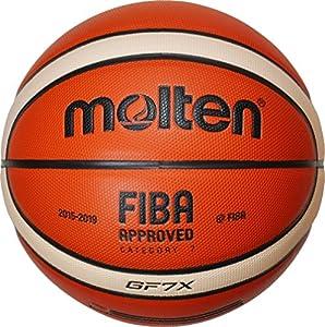 Molten Basket Ball - Orange/Ivory, 7, BGF7X-X