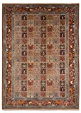 Morgenland Teppiche 300 x 200 cm Orientteppich Handgeknüpft Felder Unikat