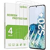 apiker 4-pack kompatibelt med Samsung Galaxy S20 Plus skärmskydd, mjuk TPU-film stöd fingeravtryckssensor, fodralvänlig, maxi