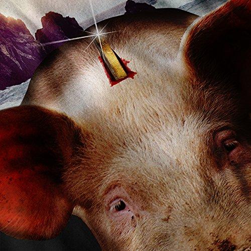 Schwein Tier Strand Tier Sparen Kasse Damen S-2XL Muskelshirt | Wellcoda Schwarz