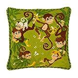 Riolis 1534 Kreuzstich-Set Dschungel Kissen, Baumwolle, Mehrfarbig, 30 x 30 x 0.1 cm