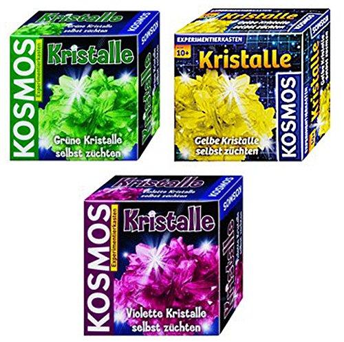 Kristalle selbst züchten grün + gelb + violett Kosmos