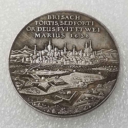 YunBest Antike Deutsche Silber-Dollar-Münzen - 1638 Deutsche Medaille Alte Münze Sammeln - Silber Old Original Pre Morgan Dollar - plattiert Silber Münze BestShop (Morgan Münzen Silber)