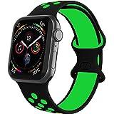 VIKATech Sports Correa Compatible con Apple Watch Correa 44mm 42mm 40mm 38mm, Suave Silicona Deporte Correa con Compatible co
