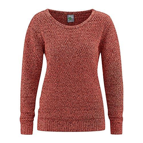 HempAge Damen Pullover Bio-Baumwolle/Hanf Rosehip M (Hanf Pullover Baumwolle)
