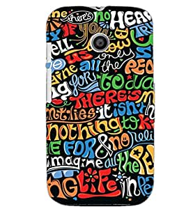MOTOROLA MOTO E TEXT Back Cover by PRINTSWAG