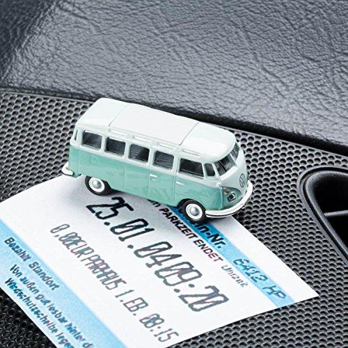 Preisvergleich Produktbild Parkscheinhalter Kultauto - VW Bus T1 Samba türkis