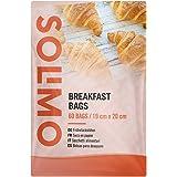 Marca Amazon - Solimo Bolsas para Desayuno - 60 bolsas de papel (19 cm x 20 cm)