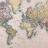 JP London sqcnv2258Kunstdruck auf Leinwand Weltkarte Global Community bei 66x 66cm