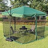 Hspoup Camping Patio Outdoor Garden Premium Universal Round Patio Regenschirm Insekt Schirm Dachdach