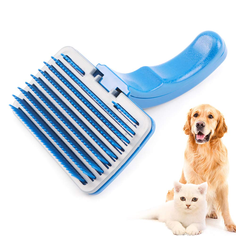 Dog Grooming Brush, Pet Hair Cleaning Brush Bath Shower Wash Massage Brush Tool for Pug, Puppy, Poodle, Spaniel, Terrier, Dog Shedding Brush Cat Slicker Brush Pet Hair Remover Dog Deshedding Fur Thinning Stripping Brush Pet Supplies for Long and Short Hair