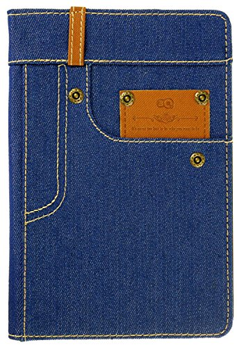 3Q Jeans Custodia iPad 4 Mini 4 Novità maggio 2016 Porta Tablet Cover iPad mini 4 Top Design Esclusivo Svizzero Azzuro Blu