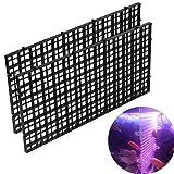 """Woopower Fishtank Trennblätter, 2Packungen 11.81"""" x5.91Aquarien board-grid Trennwand Tablett mit Crate Filter unten Isolieren lsolate, Schwarz/Weiß"""