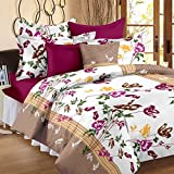 #7: Story@Home Cotton Floral 120 TC 100% Cotton Double Bedsheet With 2 Pillow Covers , Multicolor