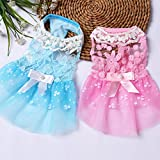 #1: Ocamo Summer Pet Dog Dress Wedding Party Dog Cat Princess Tutu Skirt Soft Puppy Clothes for Small Dog Teddy