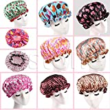 Xuniu Frauen Wasserdichte Duschhaube Badeshampoo Cap Gummiband Satin Hair Hat