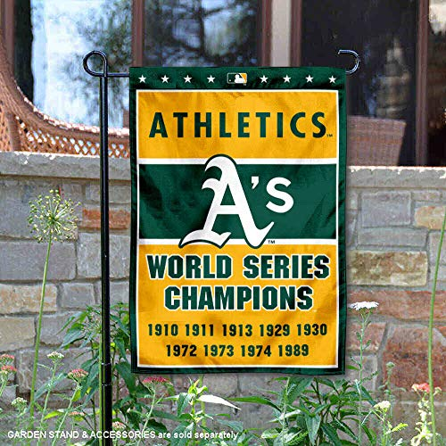 Wincraft Oakland Athletics 9-Time World Series Champions doppelseitige Gartenflagge -