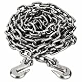 14ft Heavy Duty 3/8 inch Tow Chain with 2 Clevis hooks AU114