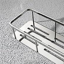 FANG-SDUDIO Rack De Porcelana Sanitaria De Acero Inoxidable 304 Engrosada Baño Para Colgar En La Pared (400*130*75Cm),Luz De Espejo Pulido