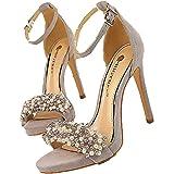 Sandali con tacco a spillo estivi da donna Fashion Pearl Peep Toe Banquet Party Wear Scarpe casual Comodi sandali con tacco a