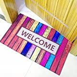 WANG-shunlida Mit dem Gummi Teppich Rutschfeste Badezimmer Primer Pad Matten, 40 X 60 cm Willkommen
