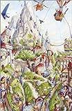 Poster 60 x 90 cm: Wimmelbild: Auf dem Berg von Bernd Lehmann - Hochwertiger Kunstdruck, Kunstposter