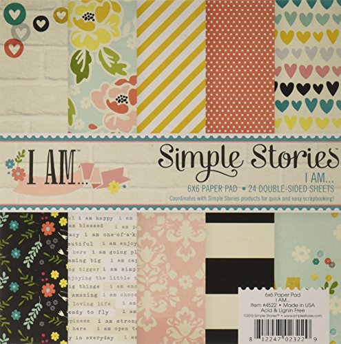 For Sale Simple Stories Paper Pad 6-inch x 6-inch 2-I Am Review