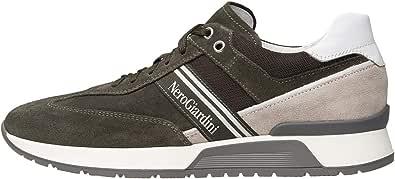 Nero Giardini E001484U Sneakers Uomo in Pelle, Camoscio E Tela