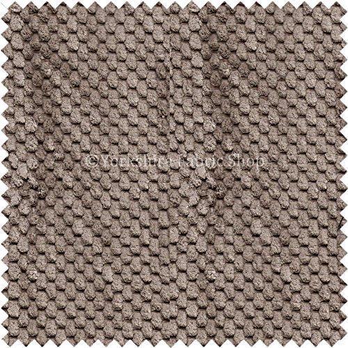 Mokka Cord (Neue Struktur Uni Pebble hellbraun Mokka Farbe Dotted Effekt Soft Cord Home Draperie Möbelstoff,)