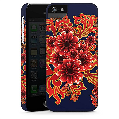Apple iPhone X Silikon Hülle Case Schutzhülle Flower Muster Ornament Premium Case StandUp