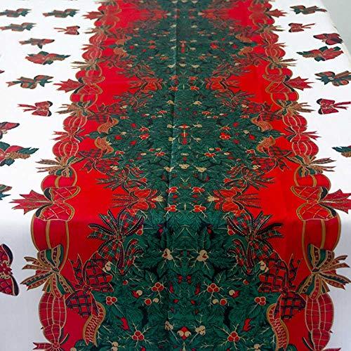 Belupai tovaglia tovaglia festa di natale decorazione per festa di natale ristorante dell' hotel, red, 180 x 137 cm