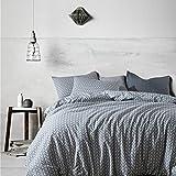 Morbuy Bettbezug Set, Pure Color Generic Weich Bettdecke Bettbezug Set Bettwäsche Sets 3tlg. Bettwäsche 100% Baumwolle Streifen Stil Gemütlich Bettbezug-Set (1x200x200cm+2x50x75cm, Stil 1)