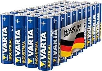 Varta Industrial Batterie AA Mignon Alkaline Batterien LR06, Made in Germany, 40er pack