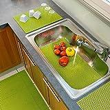 Moderne und innovative Küchen - Mehrzweckteppich - Abtropfmatte - Rutschmatte für Ihr Spülbecken - Küchenschubladen oder für die Freizeit - dekorativ und praktisch zugleich - verhindert das Verkratzen der Spüle, das Geschirr trocknet schneller - Neu aus dem KAMACA-SHOP (65x43 cm)